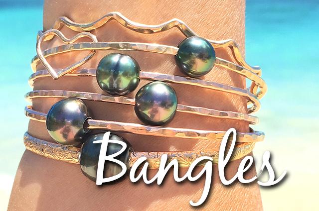 Aloha Bangles Tahitian Pearl Jewelry Custom Bangle Bracelets Sunrise S Hawaiian Beach
