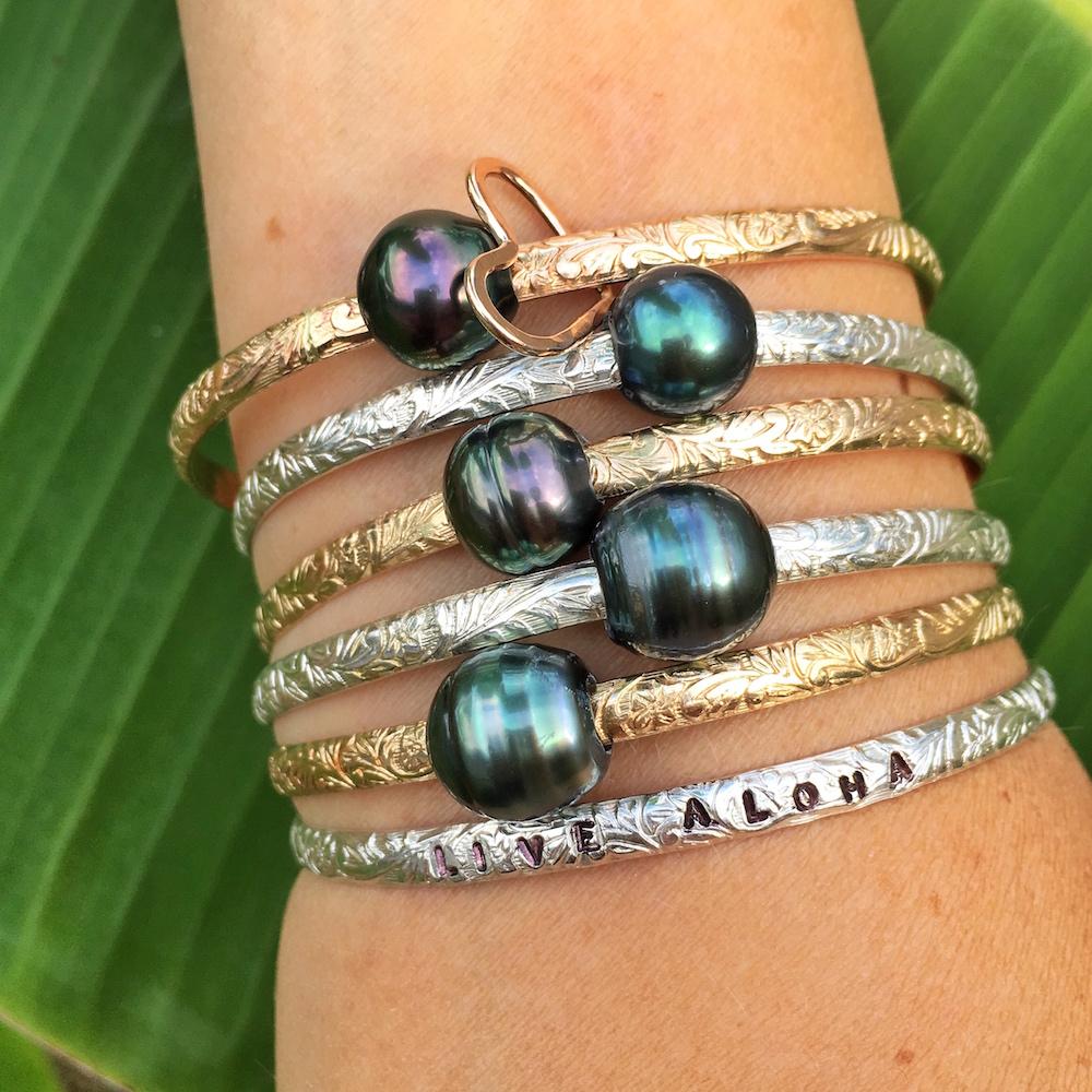 Hawaiian Heirloom Bangle Bracelet