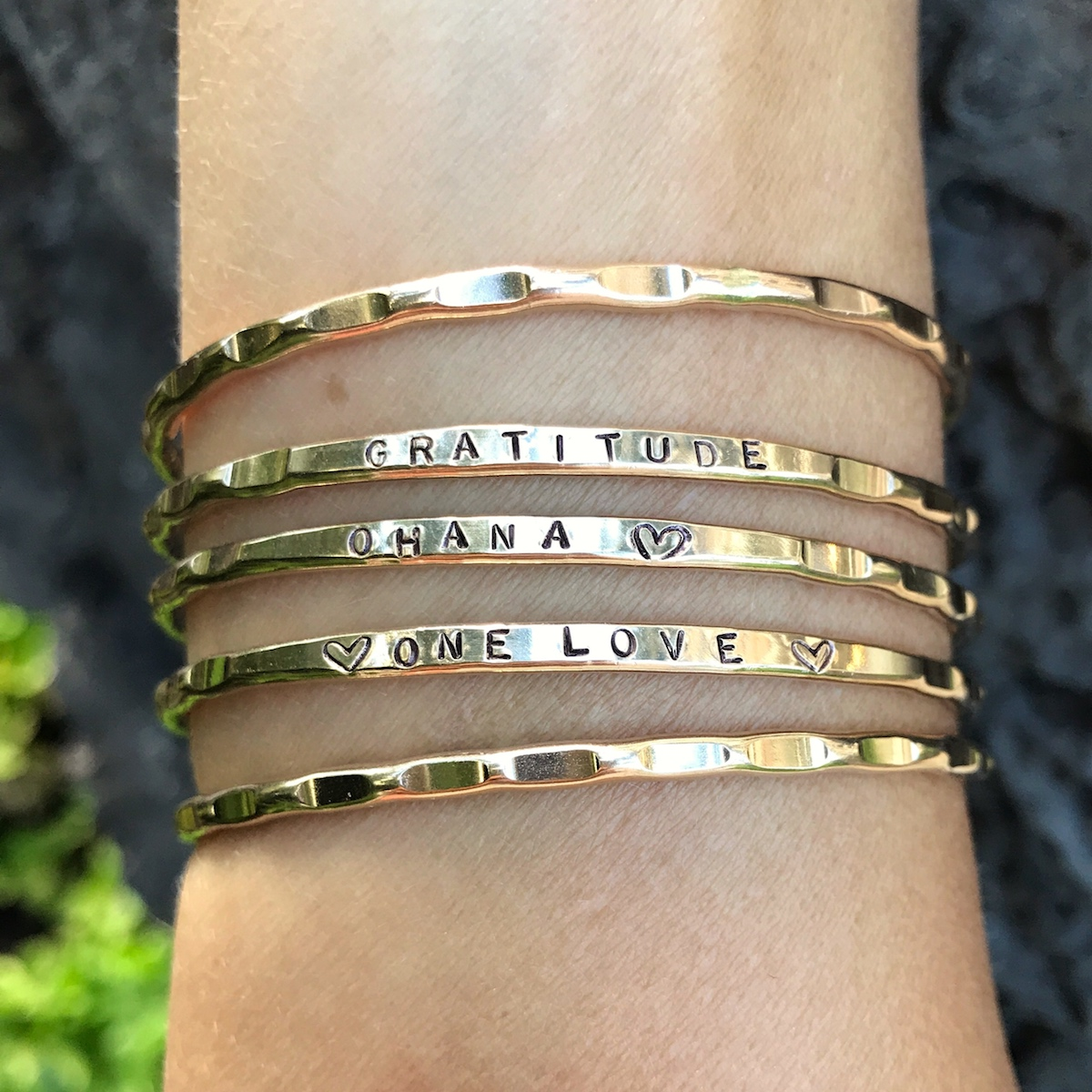 or silver to bracelet ring collections hand gold in perfection yourself stamped believe bangle bracelets