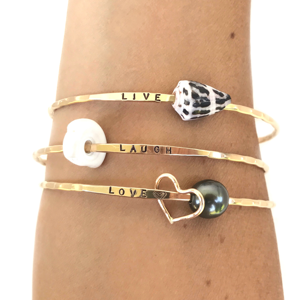 styled bangles words hope hollow bangle love cut out in gold letters shop dream paris